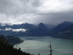 View of Howe Sound, one of our favourite places.