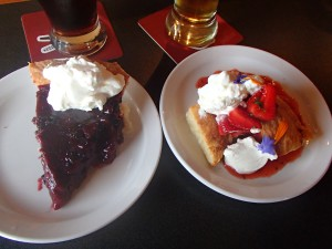 Homemade desserts and a pint of beer make everything better