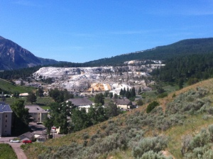 Mammoth Hot Springs from above