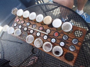 Our sampler from Russian River