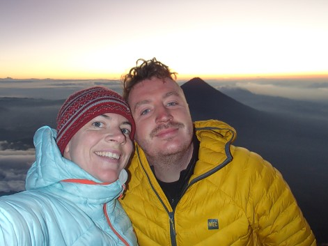 Summit selfie, it was atouch chilly