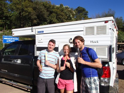 Our friend Paul and Christine, enjoying post hike freezie