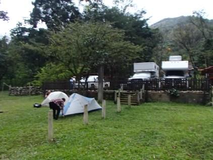 Hot spring camping