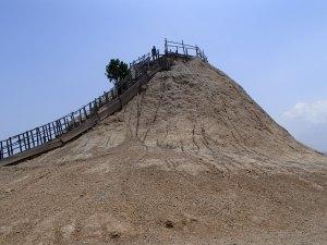 The mud volcano.