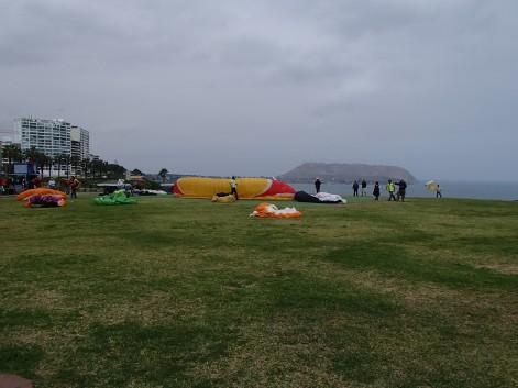 Para-Gliding landing and take-off spot