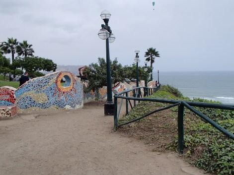 Cliff edge park in the Miraflores neighbourhood