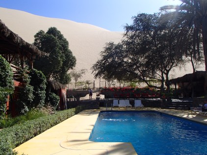 Forget the pool, lets climb the sand dune out back!