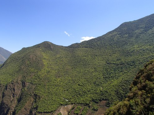 Can you see Choquequirao on the saddle?