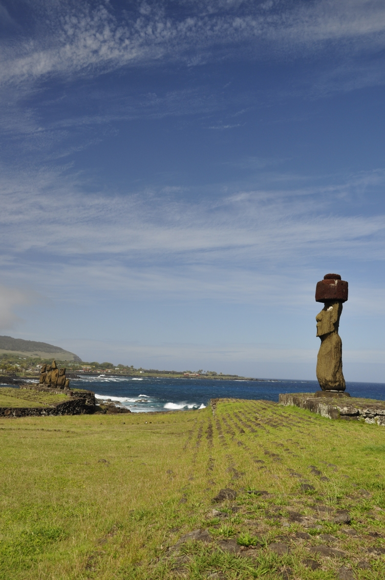 Moai on a Ahu
