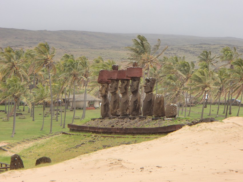Moai on the beach