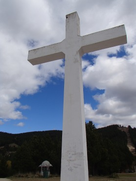 Big cross on a hill