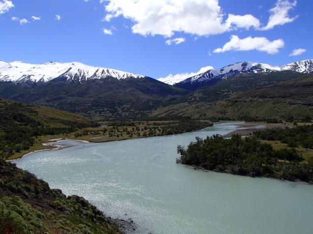A glacial river