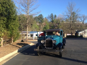 Hitched a ride in a Ford Model A
